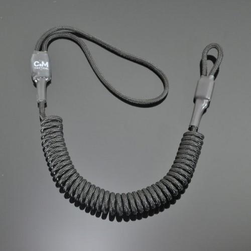 Страховочный шнур комбинированный без обвеса черный