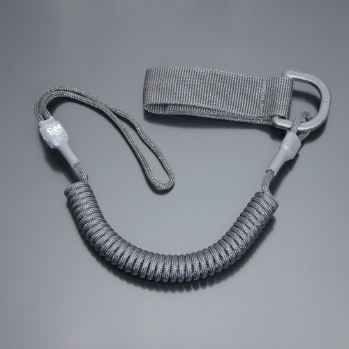 Страховочный шнур комбинированный с D-кольцом черный