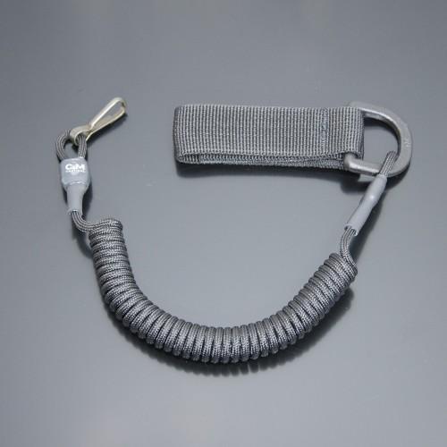 Страховочный шнур под карабины с D-кольцом и карабином черный