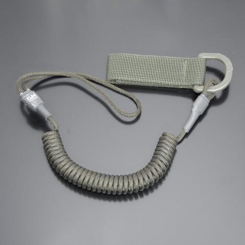 Страховочный шнур комбинированный с D-кольцом олива
