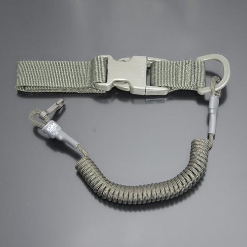 Страховочный шнур под карабины с D-кольцом фастексом и карабином олива