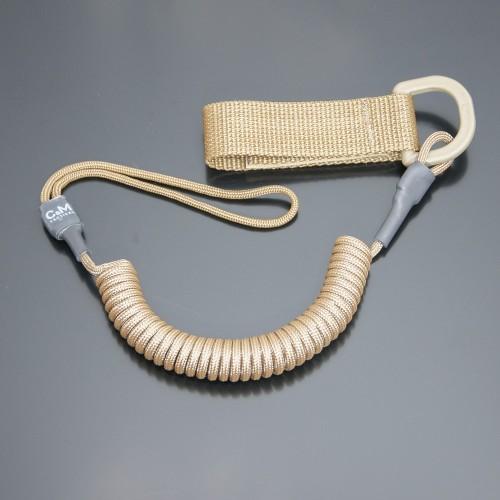 Страховочный шнур комбинированный с D-кольцом койот
