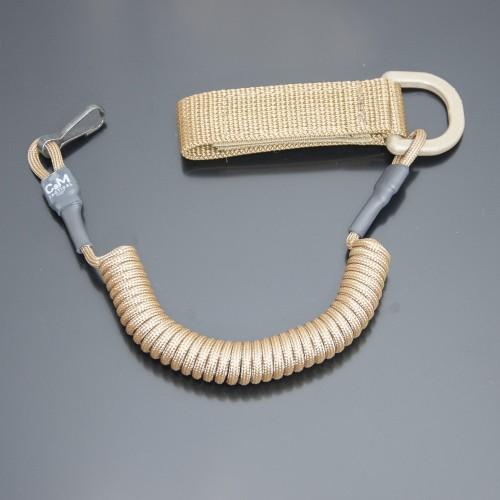 Страховочный шнур под карабины с D-кольцом и карабином койот